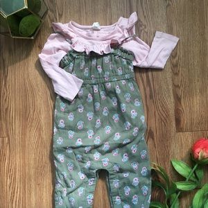 Floral Overall Outfit!